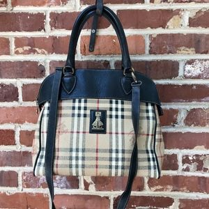 Vintage Burberry Satchel Bag 1980s Purse